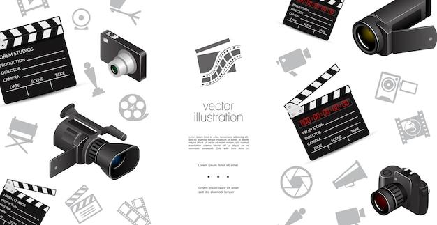 Modelo de elementos de cinematografia Vetor grátis