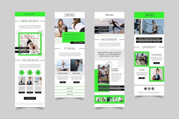 Modelo de email de fitness Vetor grátis