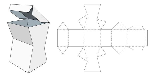 Modelo de embalagem. caixa de papelão. modelo de pacote. Vetor Premium