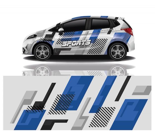 Modelo de envoltório do decalque do carro Vetor Premium