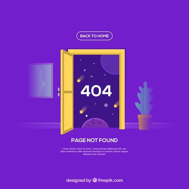 Modelo de erro 404 em estilo plano Vetor grátis