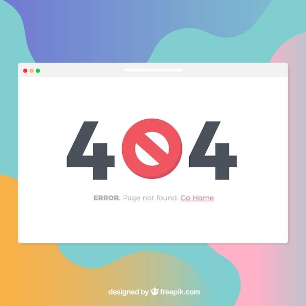 Modelo de erro flat 404 Vetor grátis