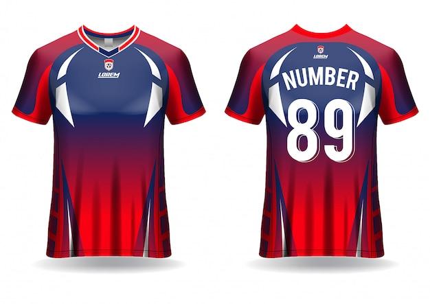 Modelo de esporte de camiseta de futebol Vetor Premium
