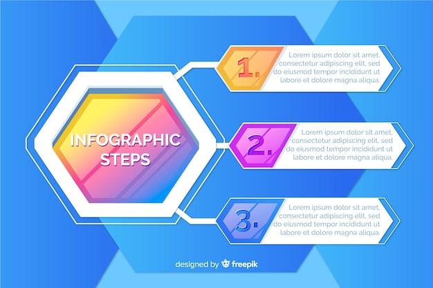 Modelo de etapas de desenvolvimento infográfico Vetor grátis