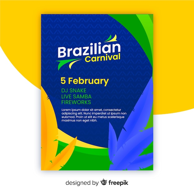 Modelo de festa de carnaval brasileiro Vetor grátis