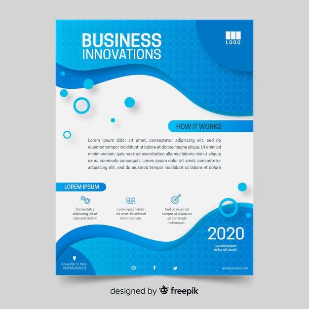 Modelo de fluido de panfleto de negócios abstratos Vetor grátis