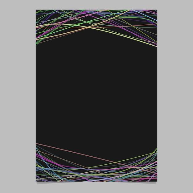 Modelo de folheto abstrato com curvas aleatórias em tons multicolores na parte superior e inferior Vetor grátis