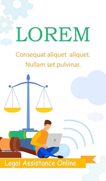Modelo de folheto - advogado, escola de negócios Vetor Premium