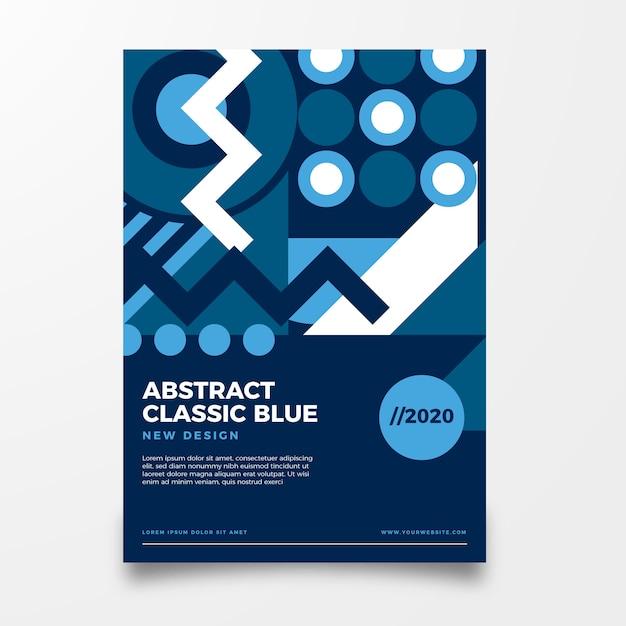 Modelo de folheto azul clássico Vetor grátis