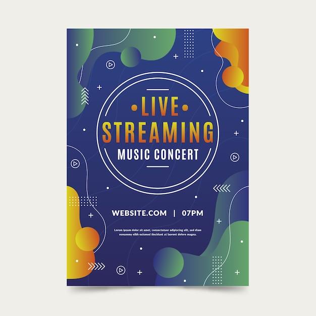 Modelo de folheto - concerto de música ao vivo Vetor grátis