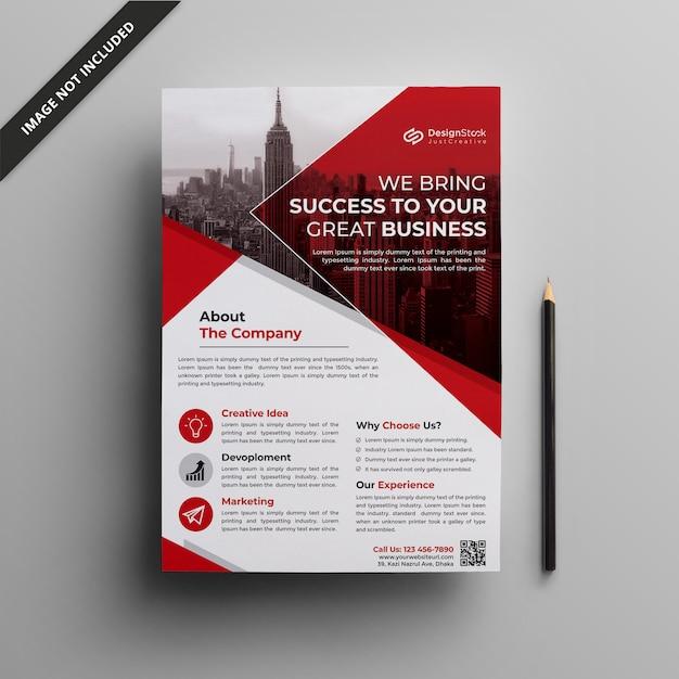 Modelo de folheto corporativo | limpe o modelo de panfleto | panfleto comercial Vetor Premium