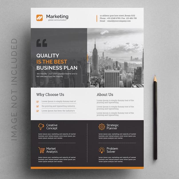 Modelo de folheto corporativo moderno Vetor Premium