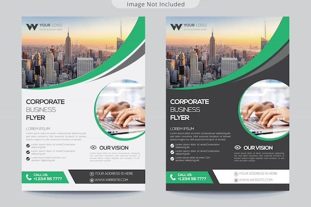 Modelo de folheto corporativo para negócios Vetor Premium