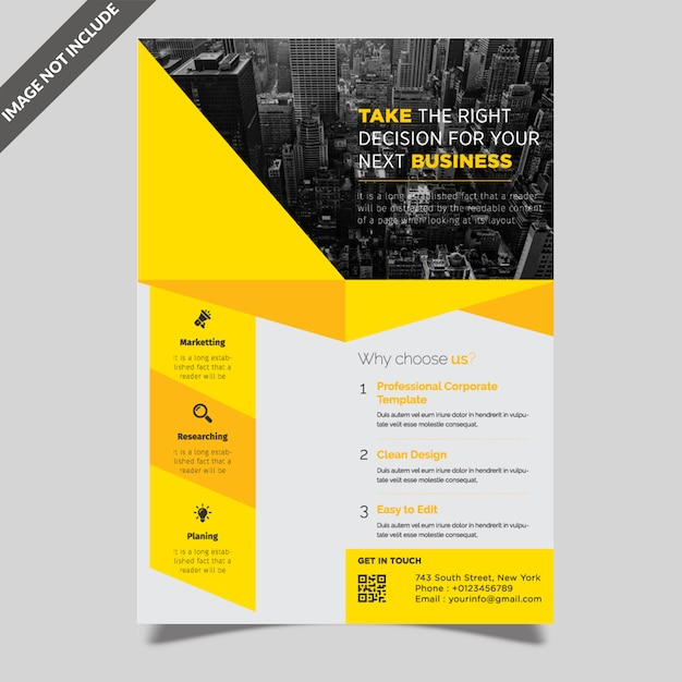 Modelo de folheto corporativo Vetor Premium