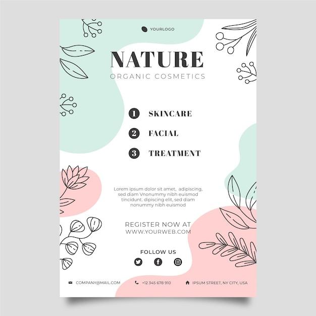Modelo de folheto da natureza Vetor Premium