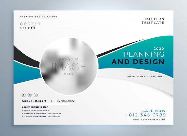 Modelo De Folheto De Capa De Apresentação Empresarial