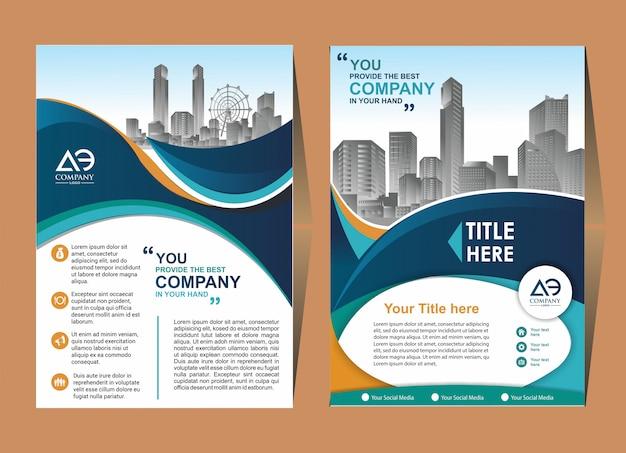 Modelo de folheto de capa de brochura criativa Vetor Premium