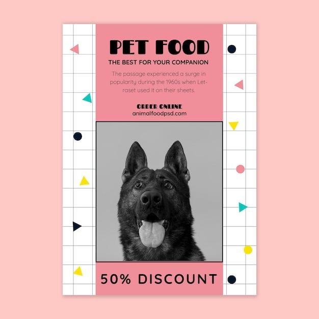 Modelo de folheto de comida animal Vetor Premium
