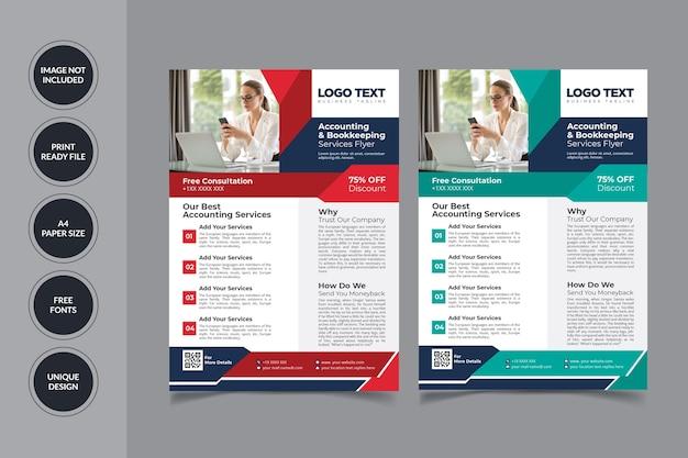 Modelo de folheto de contabilidade fiscal Vetor Premium