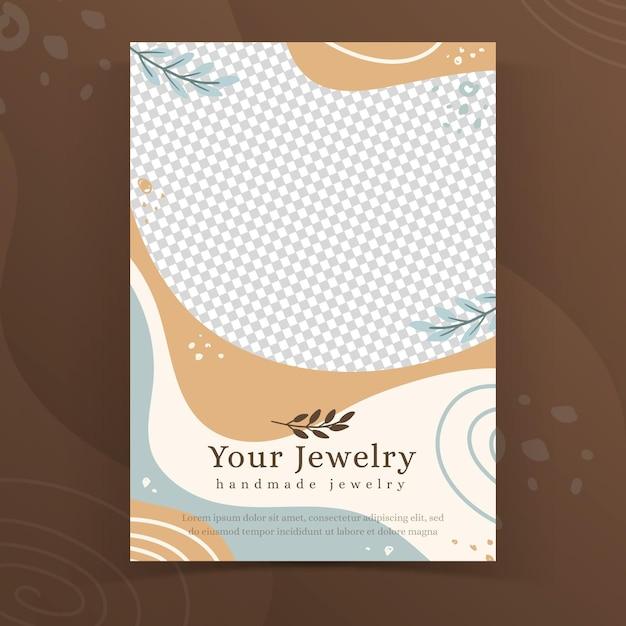 Modelo de folheto de joias feitas à mão Vetor grátis