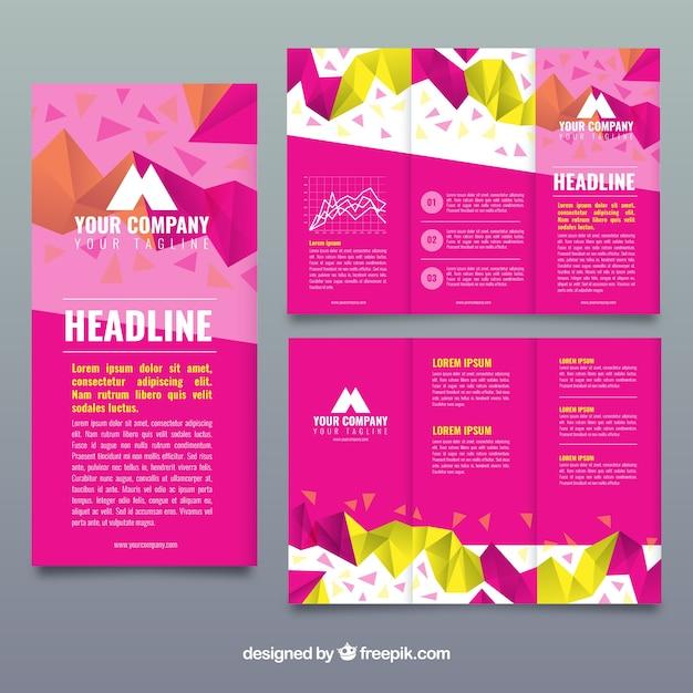 Modelo de folheto de negócio trippy simples funky pink Vetor grátis