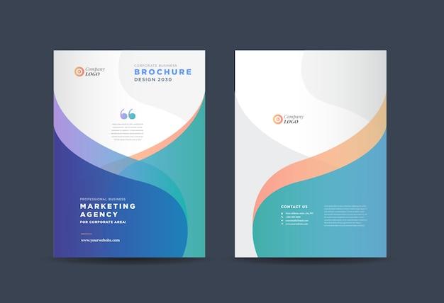 Modelo de folheto de negócios abstrato Vetor Premium