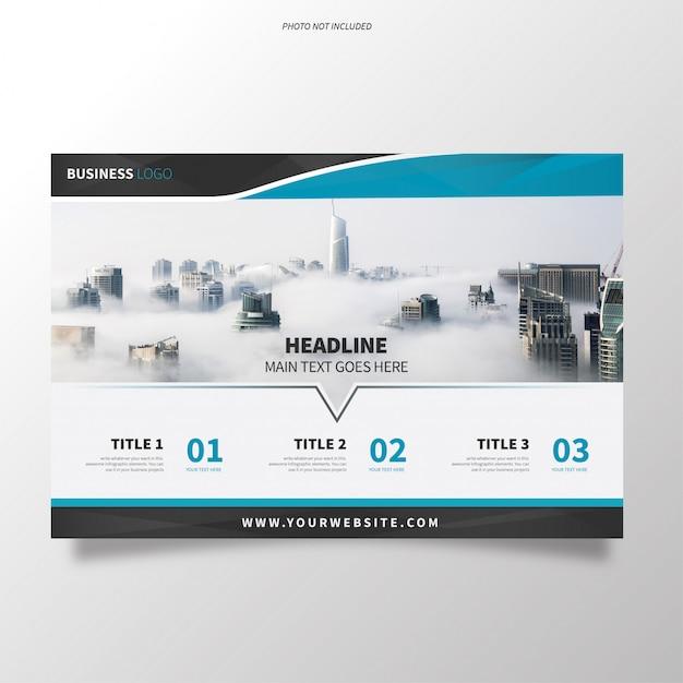 Modelo de folheto de negócios com design moderno Vetor grátis