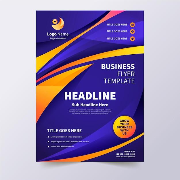 Modelo de folheto de negócios corporativos Vetor grátis