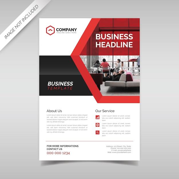 Modelo de folheto de negócios corporativos Vetor Premium