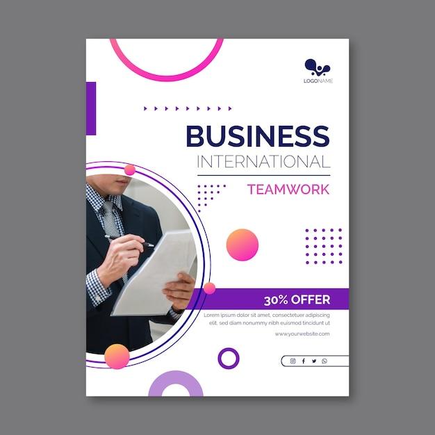 Modelo de folheto de negócios em geral com foto Vetor grátis