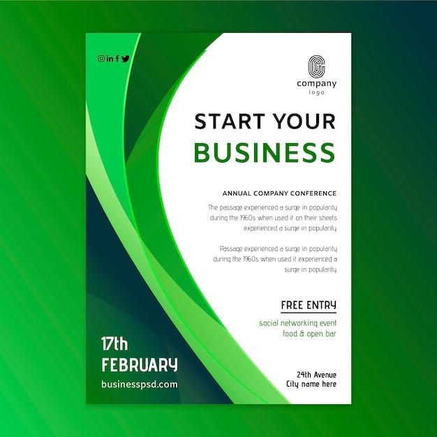 Modelo de folheto de negócios em geral Vetor Premium