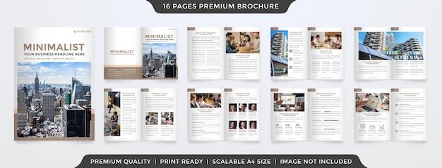 Modelo de folheto de negócios minimalista Vetor Premium