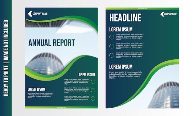 Modelo de folheto de negócios modernos Vetor Premium