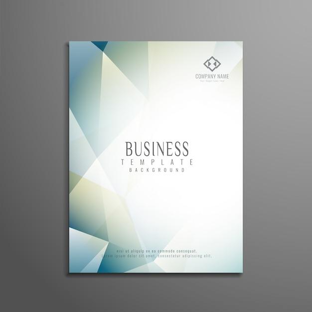 Modelo de folheto de negócios poligonal abstrato Vetor grátis