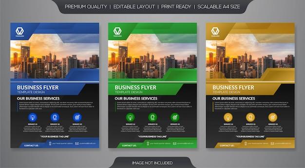 Modelo de folheto de negócios Vetor Premium