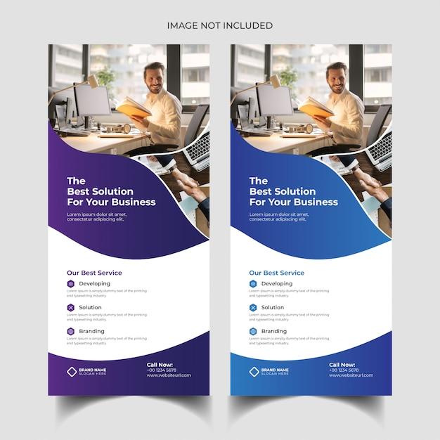 Modelo de folheto - dl panfleto ou dl Vetor Premium