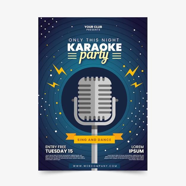 Modelo de folheto - festa de karaoke Vetor grátis