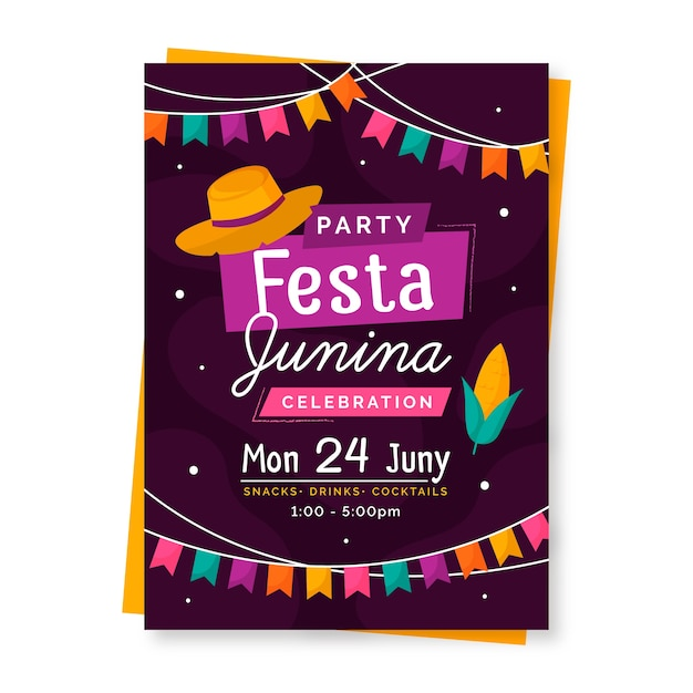 Modelo de folheto - festa junina Vetor grátis