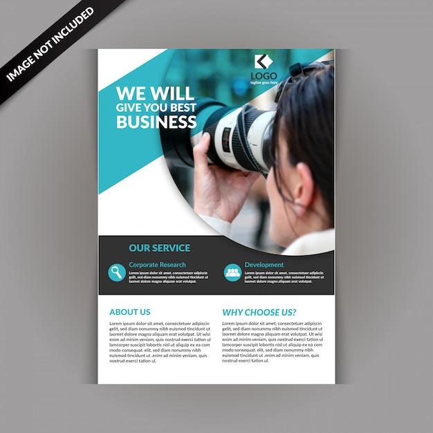 Modelo de folheto - fotografia Vetor Premium