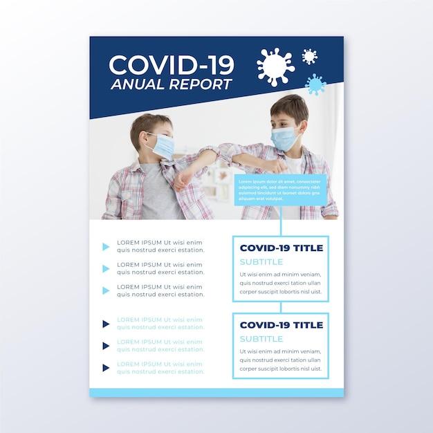 Modelo de folheto informativo de coronavírus Vetor grátis
