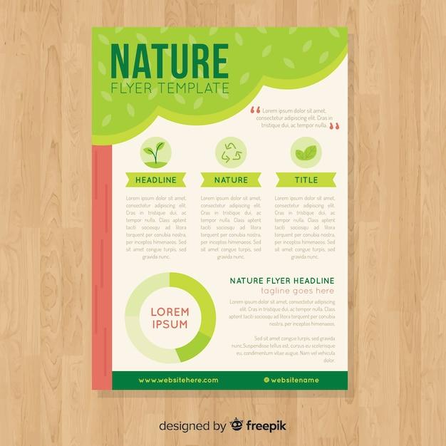 Modelo de folheto linda natureza com estilo moderno Vetor grátis