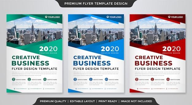 Modelo de folheto minimalista estilo premium Vetor Premium