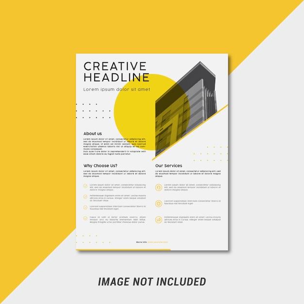 Modelo de folheto minimalista Vetor Premium