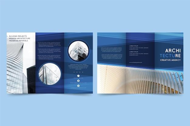 Modelo de folheto mínimo com três dobras Vetor grátis
