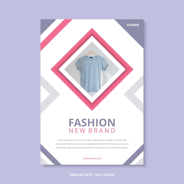 Modelo de folheto - moda moderna nova marca Vetor Premium