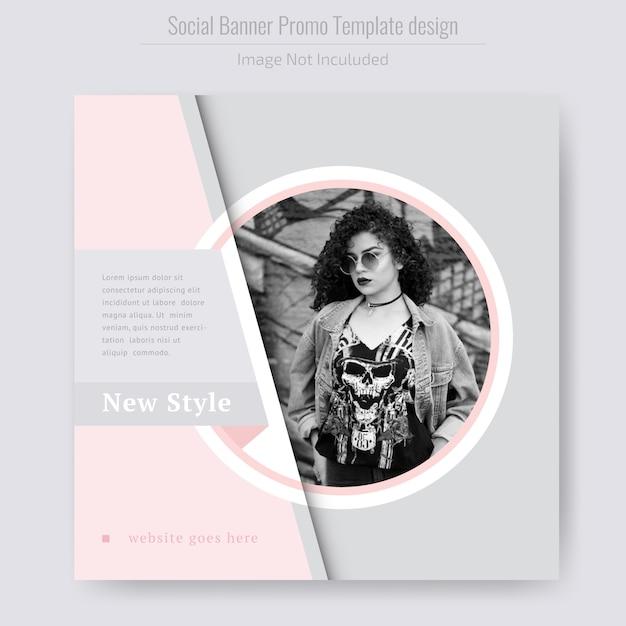 Modelo de folheto - moda produto venda Vetor Premium