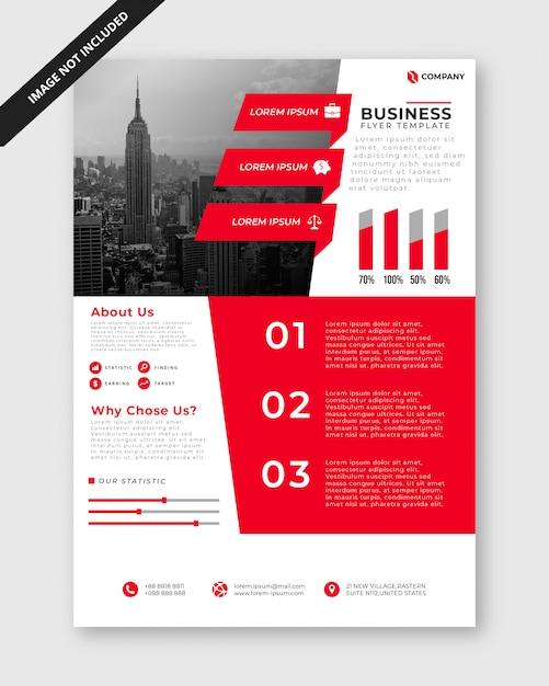 Modelo de folheto - negócio minimalista Vetor Premium