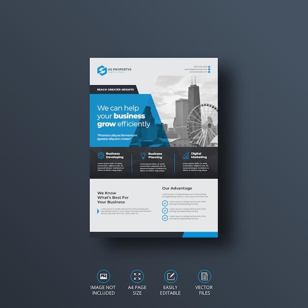 Modelo de folheto - negócios corporativos Vetor Premium
