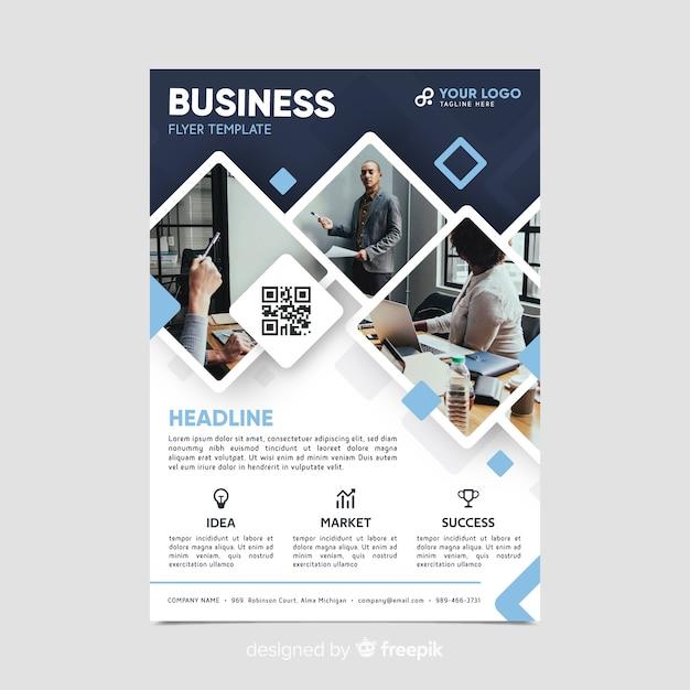 Modelo de folheto - negócios em mosaico Vetor grátis