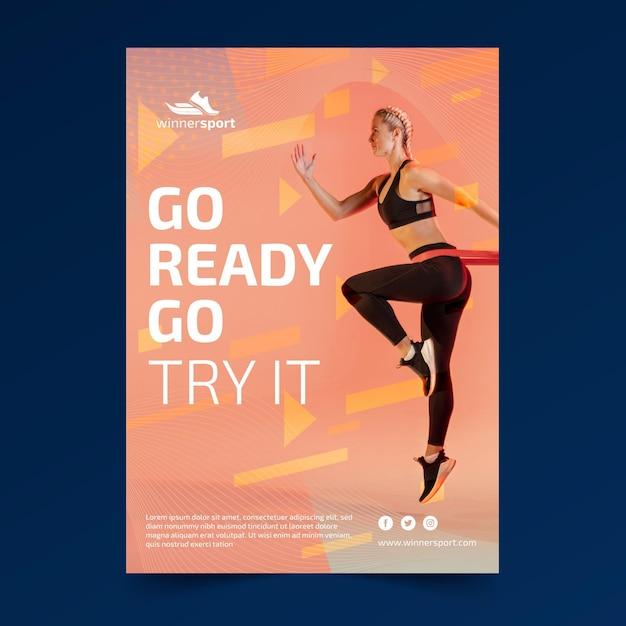 Modelo de folheto para fitness ginásio Vetor grátis
